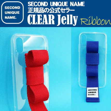 SECOND UNIQUE NAME iPhone・スマホケース 【NEW】「SECOND UNIQUE NAME」 CLEAR JELLY Ribbon 正規品