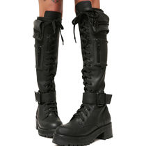 即納★国内発CURRENTMOOD//OBSIDIAN POCKET COMBAT BOOTS
