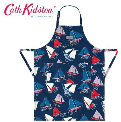 Cath Kidston エプロン 国内売り切れ品●追跡可能便サービス●Whitby Waters Navy