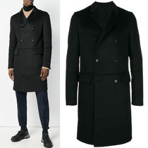 PRM179 CASHGORA BLEND DOUBLE BREAST CHESTER COAT