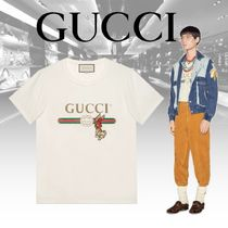 【Gucci】ラビット GUCCI ロゴ Tシャツ 18SS (白)