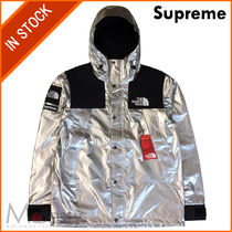 【即発】THE NORTH FACE METALLIC MOUNTAIN PARKA SILVER LARGE