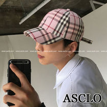 ASCLO★韓国の人気★NOVA CHECK BALL CAP 4色