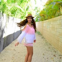 Angels by the Sea Hawaii(エンジェルズバイザシーハワイ) ブラウス・シャツ 送料込☆Angel by the Sea☆ Nola Blouse in Ombre  2色