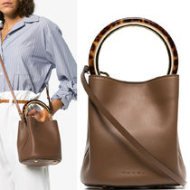 18-19AW M488 PANNIER BUCKET BAG IN CALF LEATHER