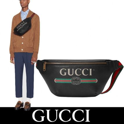 GUCCI/ヴィンテージロゴ/レザーボディバッグ【関税・送料込】