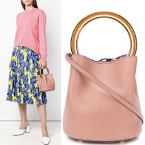 18-19AW M499 PANNIER BUCKET BAG IN CALF LEATHER
