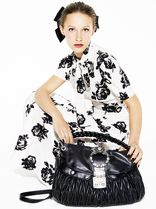MM541 LOOK21 FLORAL PRINT SILK DRESS WITH BOW