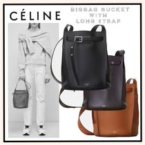 CELINE(セリーヌ) ショルダーバッグ・ポシェット 関税送料込☆CELINE ビッグバッグ バケット with Long Strap