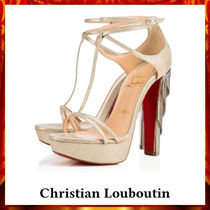 【Christian Louboutin】Golden Blake 140 mm