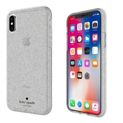 kate spade new york iPhone・スマホケース Kate Spade★スマホケース★グリッターiPhoneX Rose Gold&Silver(3)