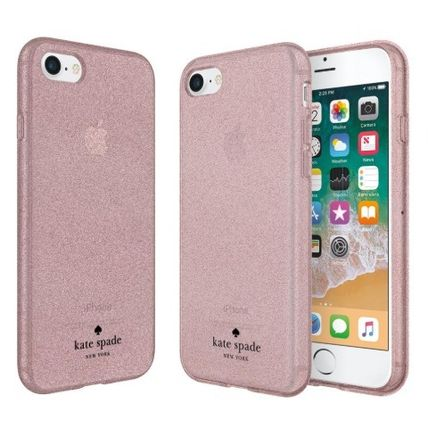 kate spade new york iPhone・スマホケース Kate Spade★スマホケース★グリッターiPhone8 Rose Gold&Silver(2)