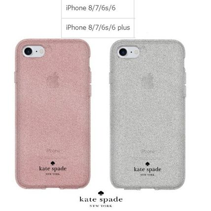 kate spade new york iPhone・スマホケース Kate Spade★スマホケース★グリッターiPhone8 Rose Gold&Silver