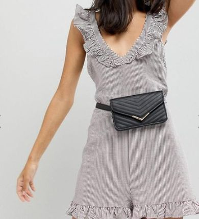 【ASOS】New Look Quilted Enevlope Purse Belt◆お財布ベルト