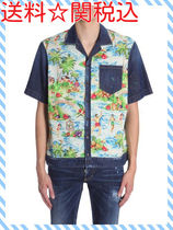 DSQUARED DENIM SHIRT WITH HAWAII PRINTED INSERT☆送料関税込