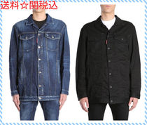DSQUARED OVERSIZE FIT DENIM JACKET WITH BE COOL BE☆全2色