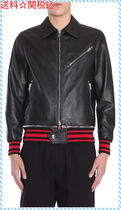 GIVENCHY LEATHER JACKET WITH RIBBED DETAILS☆送料関税込