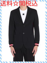 GIVENCHY CLASSIC COTTON JERSEY JACKET WITH SIDE CONTRAST
