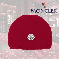【18AW】★MONCLER  ★ロゴパッチニットビーニー/レッド