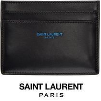 【Saint Laurent】ロゴカードケース black×blue