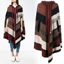 VIPセール!関税込☆【CHLOE】Striped hooded knit poncho