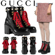 GUCCI グッチ Leather ankle boot アンクルブーツ black 497372