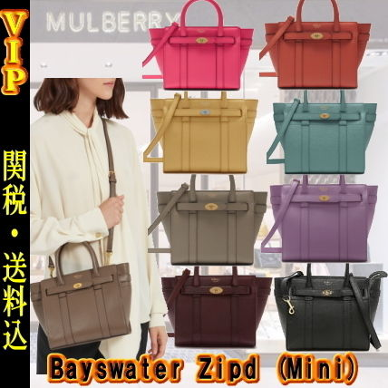 Mulberry ハンドバッグ ◆VIP◆ キャサリン妃愛用  Mulberry Bayswater Zipd (Mini) Bag