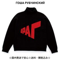 【GOSHA RUBCHINSKIY】Graphic Knit Roll Neck (送料関税込)