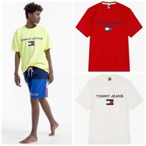 TOMMY JEANSのロゴ半袖Tシャツ 全5色