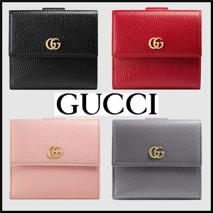 competitive price 6ebe8 047a4 GUCCI★人気のプチマーモント レザー フレンチフラップ 折り財布
