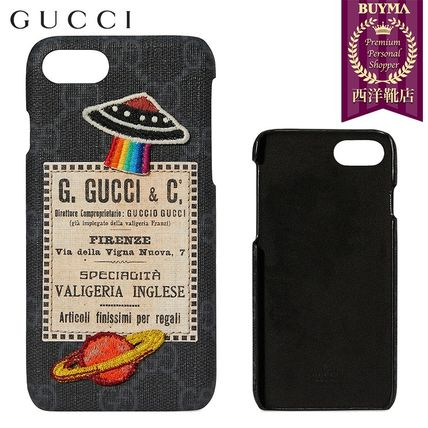 GUCCI スマホケース・テックアクセサリー 【正規品保証】GUCCI★18秋冬★NIGHT COURRIER IPHONE 7 CASE