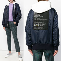MM558 HODDED BOMBER JACKET WITH CARE TAG APPLIQUE