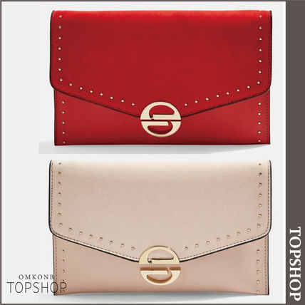 TOPSHOP クラッチバッグ 【国内発送・関税込】TOPSHOP★Candice Stud Clutch Bag