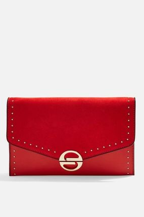 TOPSHOP クラッチバッグ 【国内発送・関税込】TOPSHOP★Candice Stud Clutch Bag(7)
