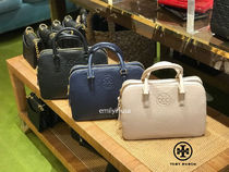 新作SALE TORY BURCH☆BOMBE SMALL ROUND DBLZIP SATCHEL*追跡有