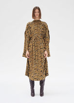 18SS Long sleeve dress in boa printed jersey