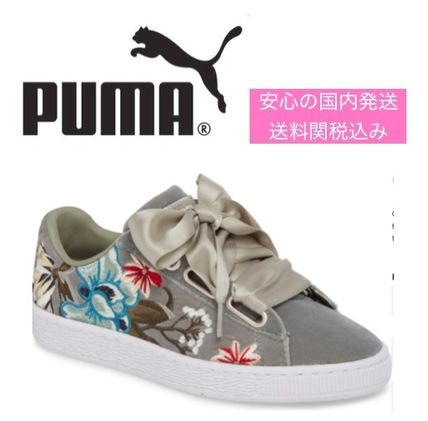 buy popular b862f 448c4 国内発送 刺繍が決め手!PUMA Basket Heart Hyper Embroidered