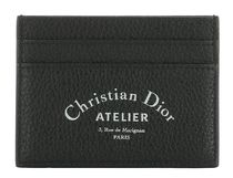 DIOR HOMME Card Holder in Black Grained Calfskin