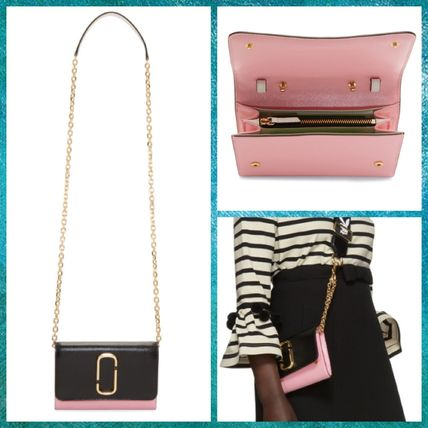 【MARC JACOBS】2018SS☆Chain ショルダーウォレット Black&Pink