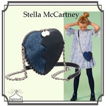 大人もOK!Stella McCartney☆Blue JAZZ HEART チェーンバッグ