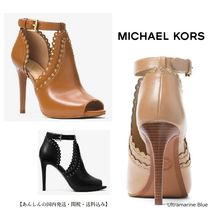 Michael Kors【国内発送】Jessie Leather Open-Toe Bootie 全2色