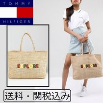Tommy Hilfiger ロゴ ストロー バッグ