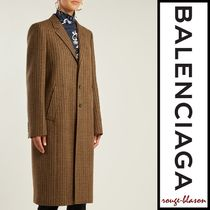 【国内発送】Balenciaga コート Single-breast wool-blend coat