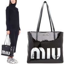 MM580 SEQUINS & GRACE LUX LEATHER TOTE