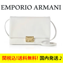 関税送料込☆EMPORIIO ARMANI☆ White Grainy Leather Clutch