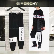 【18AW NEW】 GIVENCHY_men/PANTALONI DA JOGGING CON RICAMO/BK