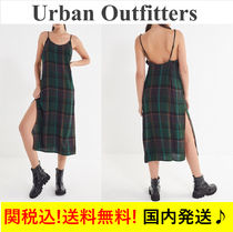 【関税送料込】☆UO☆Rigby Plaid Maxi Slip Dress