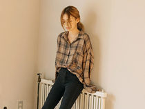 BLACKPINKジス着用☆VINTAGE CHECK POCKET SHIRTS/common unique