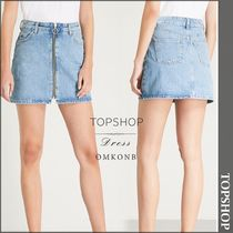 【国内発送・関税込】TOPSHOP★Zipthrough highrise denim skirt