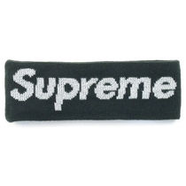 Supreme FW16 New Era Reflective Logo Headband 黒
